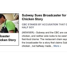 Subway Sham? The Chicken Fight Continues…